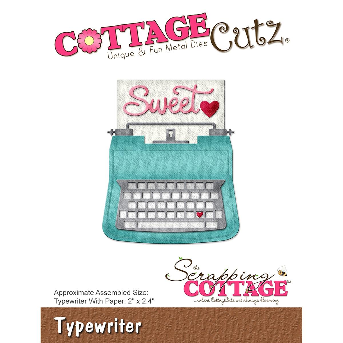 """CottageCutz Die-Typewriter, 2X2.4 (Typewriter, 2""""X2.4""""), ..."""