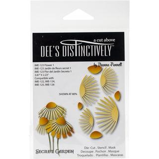 """Dee's Distinctively Dies-Secret Garden Flower 1 3.87""""X3.23"""""""