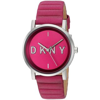 DKNY Women's NY2631 'SoHo' Pink Leather Watch