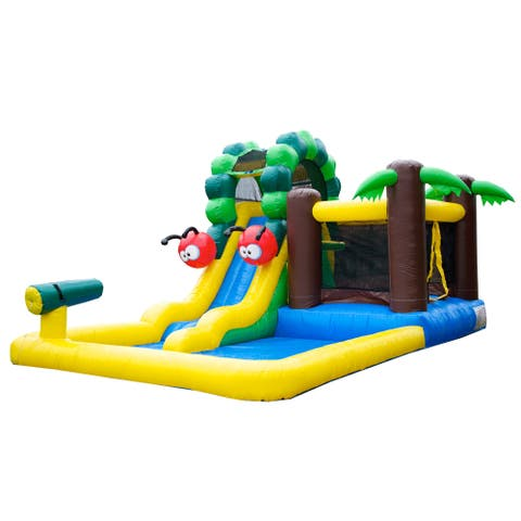 JumpOrange Caterpillar Inflatable Combo, Commercial PVC Vinyl, with Blower