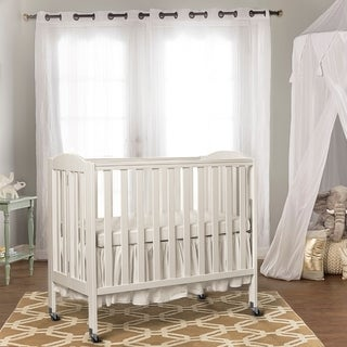 Dream On Me 3 in 1 Folding Portable Crib, White