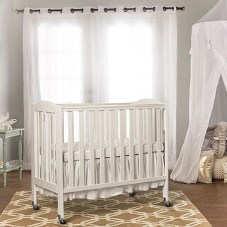 Dream On Me 3 in 1 Folding Portable Crib, White (Option: White)