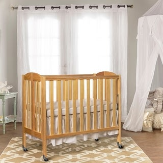 Dream On Me 3 in 1 Folding Portable Crib, Natural