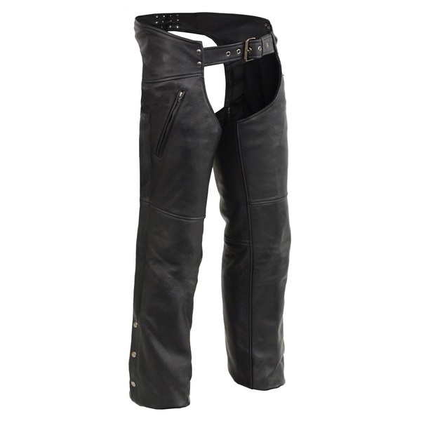 MEN'S CHAPS WITH COOL TECH® LEATHER AND ZIPPERED THIGH POCKETS
