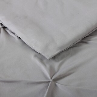 Truly Soft Pinch Pleat Solid 3 Piece Duvet Set (More options available)