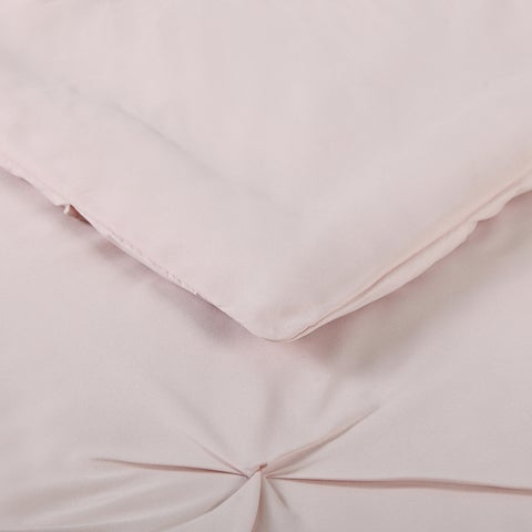 Truly Soft Pinch Pleat Solid 3 Piece Duvet Set