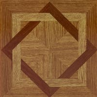 Achim Tivoli Wood Diamond 12x12 Self Adhesive Vinyl Floor Tile - 45 Tiles/45 sq. ft.