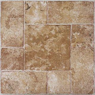 Achim Tivoli Beige Terracotta 12x12 Self Adhesive Vinyl Floor Tile - 45 Tiles/45 sq. ft.