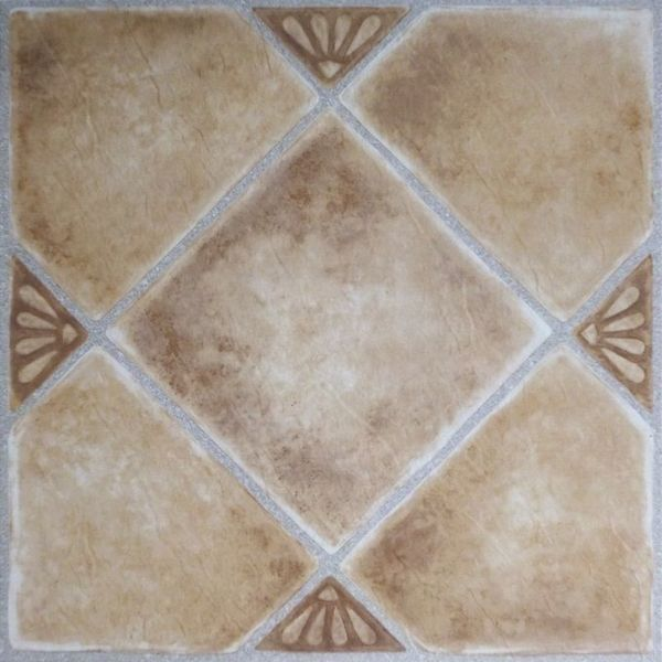 Tivoli Beige Clay Diamond With Accents 12x12 Self Adhesive
