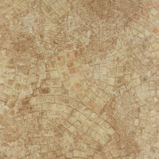 Achim Tivoli Ancient Beige Mosaic 12x12 Self Adhesive Vinyl Floor Tile - 45 Tiles/45 sq. ft.