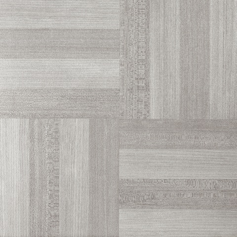 Achim Tivoli Ash Grey Wood 12x12 Self Adhesive Vinyl Floor Tile - 45 Tiles/45 sq. ft.