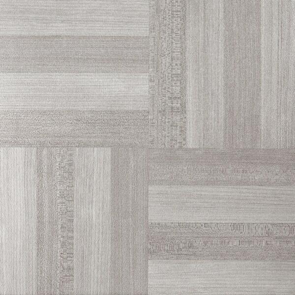 Shop Achim Tivoli Ash Grey Wood 12x12 Self Adhesive Vinyl Floor Tile