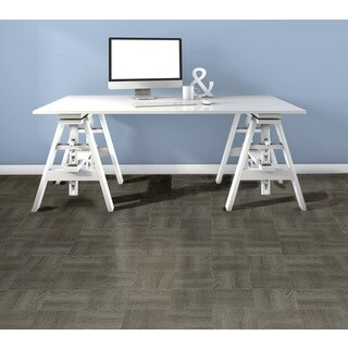 Tivoli Charcoal Grey Wood 12x12 Self Adhesive Vinyl Floor Tile - 45 Tiles/45 sq Ft.