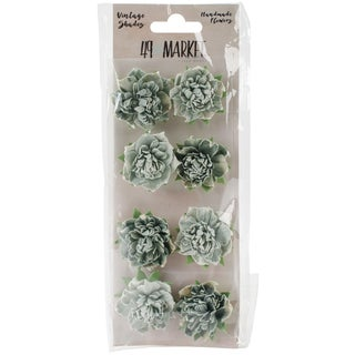 """Vintage Shades Blossoms 1.25"""" 8/Pkg-Sage"""