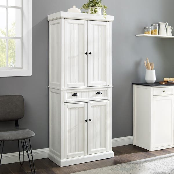 Shop Seaside Kitchen Pantry in Distressed White Finish ...
