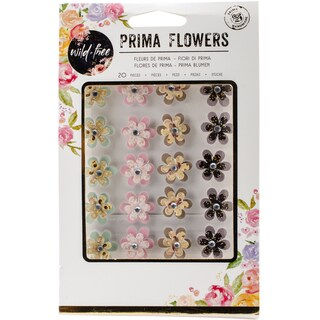 Wild & Free Self-Adhesive Dimensional Flowers W/Gems-Ethereal
