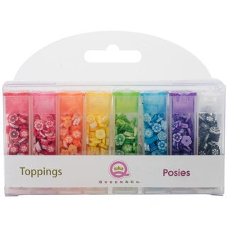 Queen & Co Topping Set 8/Pkg-Posies