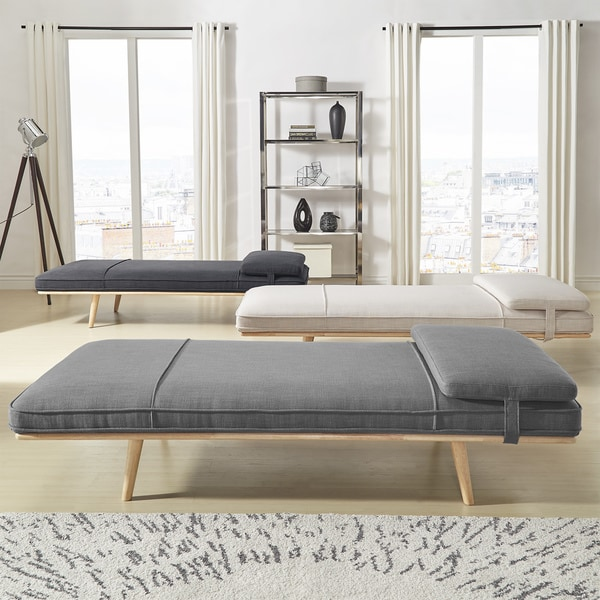 Chiyo Chaise Lounge Oversize Bench with Pillow iNSPIRE Q Modern : chaise bench - Sectionals, Sofas & Couches