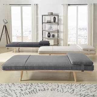 bedroom chaise lounge. Chiyo Chaise Lounge Oversize Bench with Pillow iNSPIRE Q Modern Lounges Living Room Furniture For Less  Overstock com