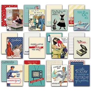 "Dapper Authentic Life Cards 36/Pkg-3""X4"" Pocket Crafting & Journaling Cards"