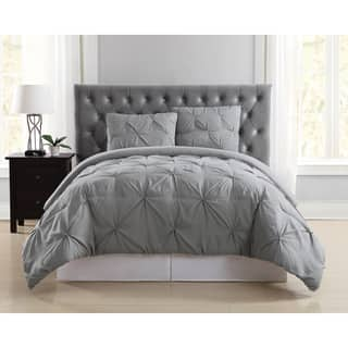 Truly Soft Pinch Pleat Solid 3 Piece Comforter Set|https://ak1.ostkcdn.com/images/products/16079555/P22464624.jpg?impolicy=medium