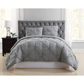 Truly Soft Pinch Pleat Solid 3 Piece Comforter Set (More options available)