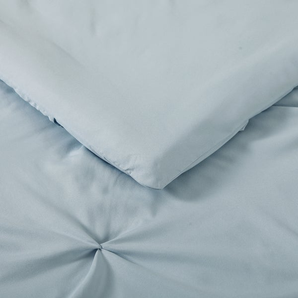 Truly Soft Everyday Pleated Comforter Set Light Blue Full//Queen