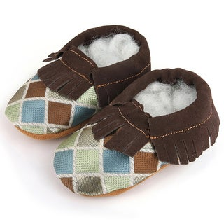 Augusta Baby Children's Genuine Leather Fringe Soft Sole Booties (3 options available)