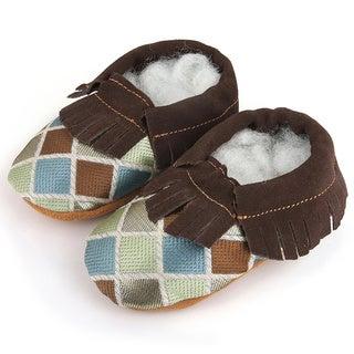 Augusta Baby Children's Genuine Leather Fringe Soft Sole Booties