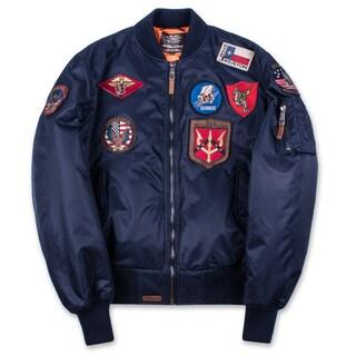 MA-1 Nylon Men's Flight Jacket with Patches