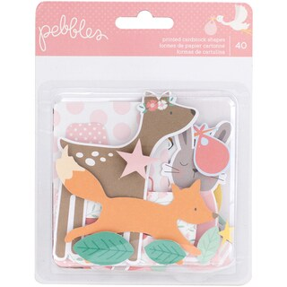 Lullaby Ephemera Cardstock Die-Cuts 40/Pkg-Baby Girl