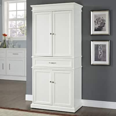 """Parsons White Wood Storage Pantry - 33 """"W x 19 """"D x 72 """"H"""