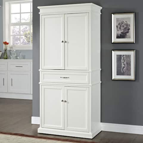 "Parsons Pantry in White - 33 ""W x 19 ""D x 72 ""H"