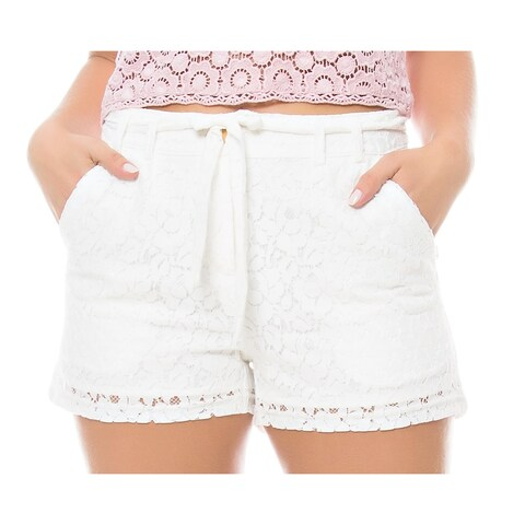 Sara Boo Drawstring Lace Shorts