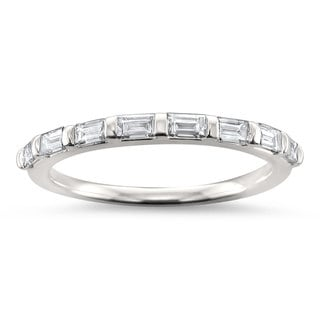 Link to Montebello Jewelry 14k White Gold 1/2ct TDW Baguette-cut Diamond Wedding Band (H-I, VS1-VS2) Similar Items in Wedding Rings