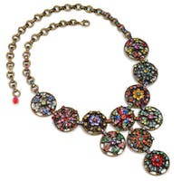 Sweet Romance Rainbow Crystal Calypso Statement Necklace