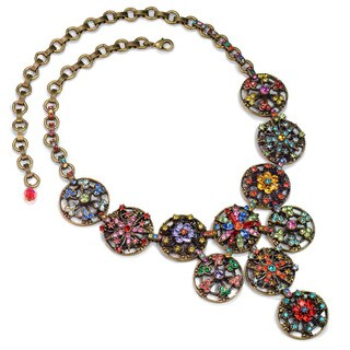Sweet Romance Rainbow Crystal Calypso Statement Necklace
