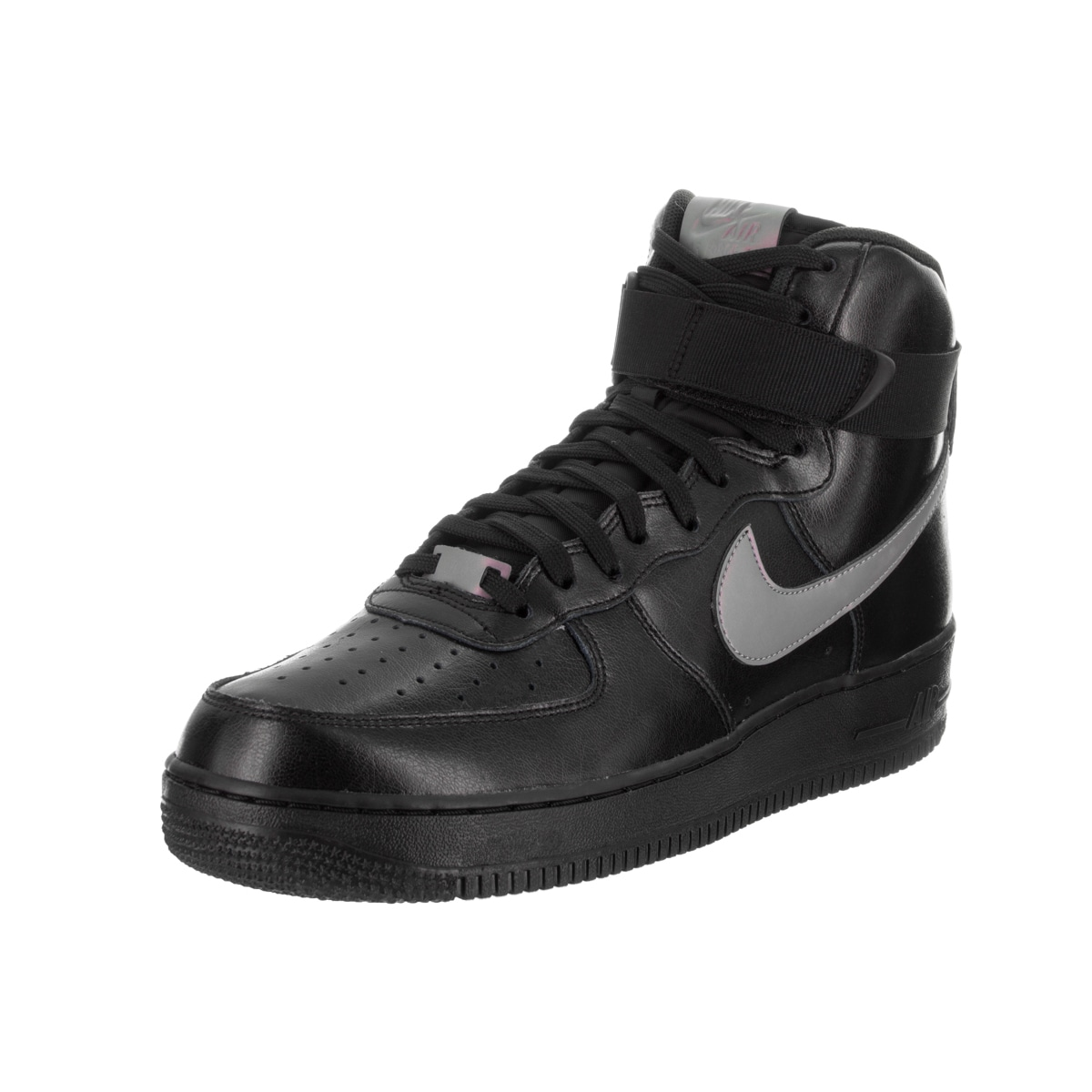 Nike Men's Air Force 1 High '07 LV8 Black Synthetic Leath...