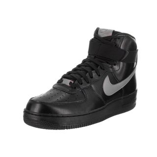 Nike Men's Air Force 1 High '07 LV8 Black Synthetic Leather Basketball Shoes