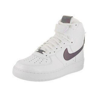 Nike Men's Air Force 1 High '07 Lv8 White Leather Basketball Shoes