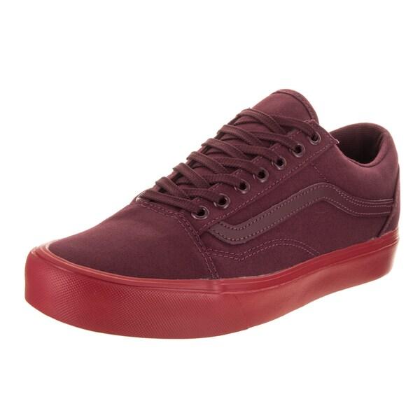 97afb30bf9b180 Shop Vans Unisex Old Skool Lite (Pop Sole) Red Canvas Skate Shoes ...
