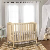Dream On Me 3 in 1 Folding Portable Crib, French White