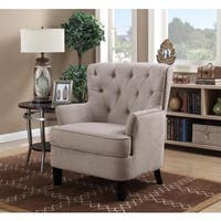 LYKE Home Cali Tufted Arm Chair