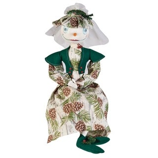 Blanche Snow Bride Joe Spencer Gathered Traditions Art Doll - Green