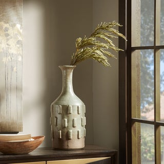 Madison Park Wyatt Green Handmade Cermaic Vase - Large