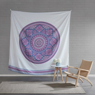 Intelligent Design Candice Purple Printed 90 x 90-inch Wall Tapestry (Option: Purple)