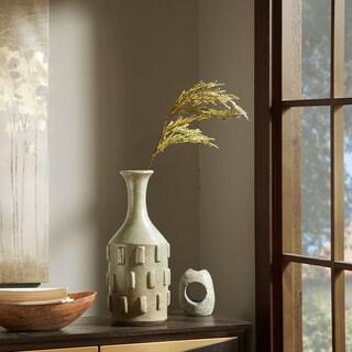 Madison Park Wyatt Green Handmade Cermaic Vase - Small