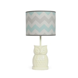 The Peanut Shell Owl Chevron Lamp