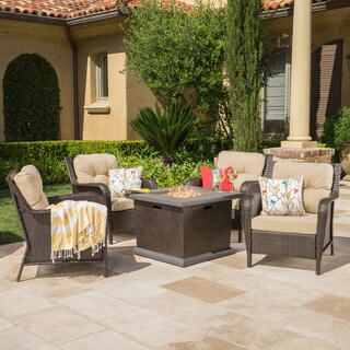 Savona Outdoor 5-piece Seating Set with Cushions by Christopher Knight Home
