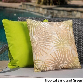 Coronado Outdoor Tropical 18-inch Square Pillow (Set of 2) by Christopher Knight Home